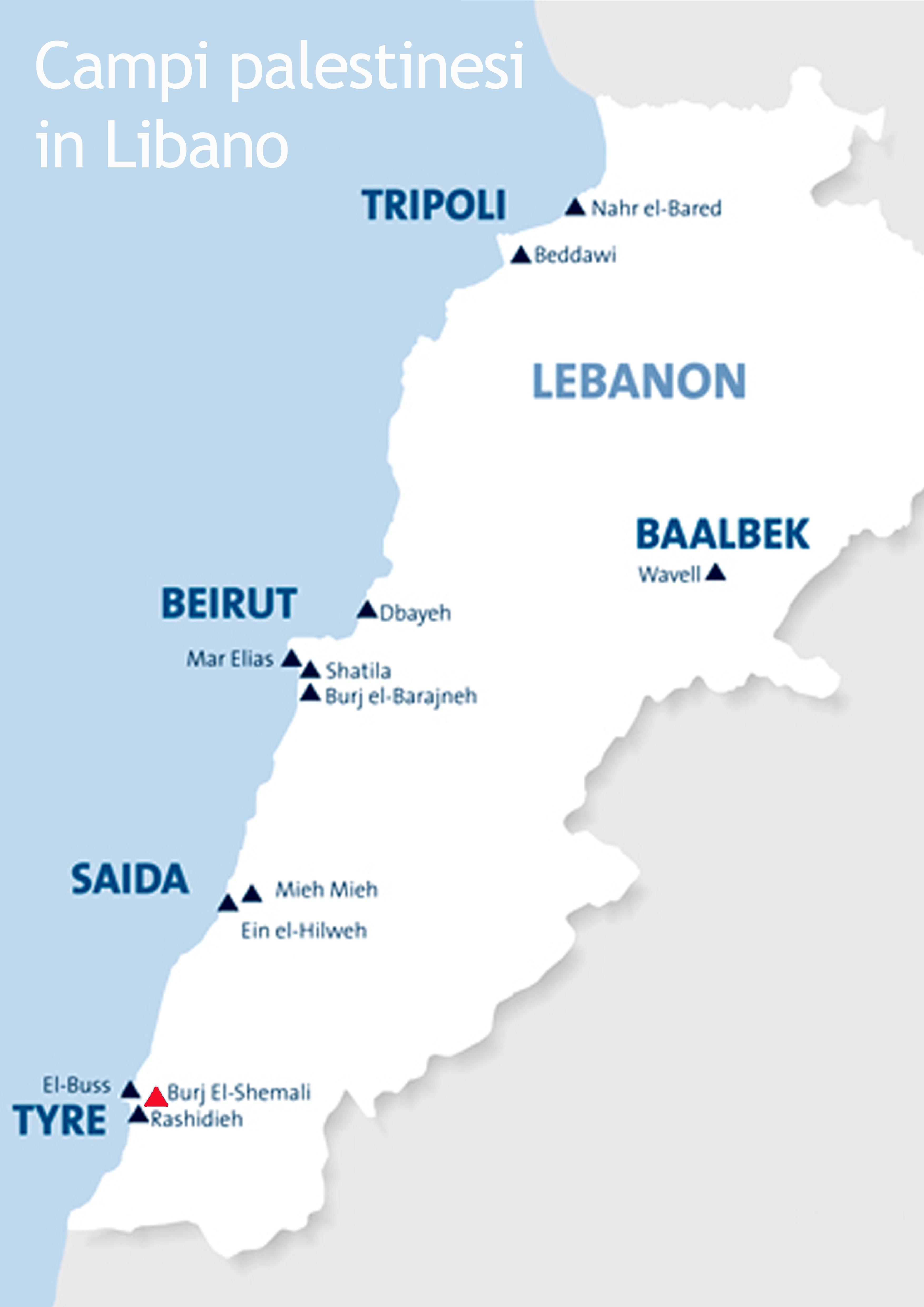 Cartina Del Libano.Mappa Del Libano E Campi